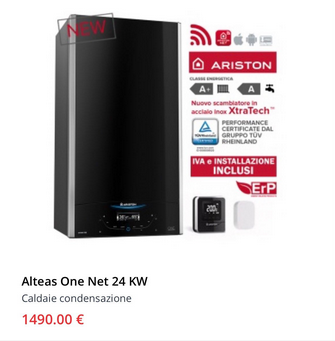 Caldaia Ariston alteas one net 24 kw