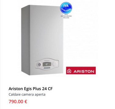 Caldaia Ariston egis plus 24 cf